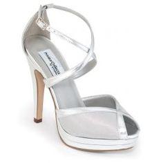 "4"" silver strappy heel"