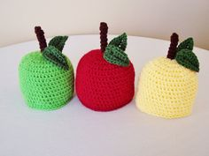 Newborn/Baby Fall Harvest Apple Hat by MadeBySvea on Etsy, $15.00