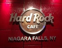 """Always a favourite place for great food and plenty of entertainment and activities, make """"Hard Rock Cafe"""" your choice for dinner and night time fun. Niagara Falls Restaurants, Niagara Falls New York, Autumn In New York, Cafe Logo, Delicious Restaurant, Cooking Timer, Places To Eat, Hard Rock, Great Recipes"""