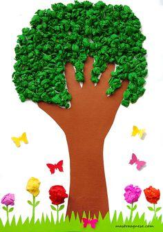 L'albero con la sagoma della mano
