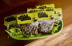 Shaun the Sheep Birthday Party DIY Decorations. Sheep poop party favor - chocolate covered raisins