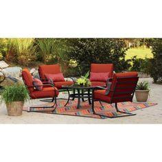 Mainstays Pyros 5-Piece Patio Conversation Set, Seats 4 - Walmart.com