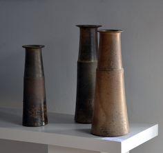 robert deblander - vases, cuisson bois