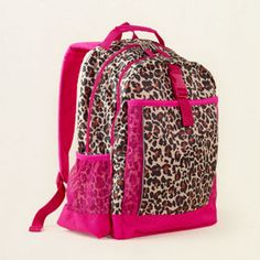 leopard backpack, totally getting this for shara this year!