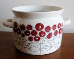 Vintage Rorstrand Sweden Picknick Marianne Westman White Ceramic Jar Dish | eBay