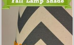 fall decorating ideas covering a lamp shade, crafts, seasonal holiday decor, I found all my supplies at the craft store