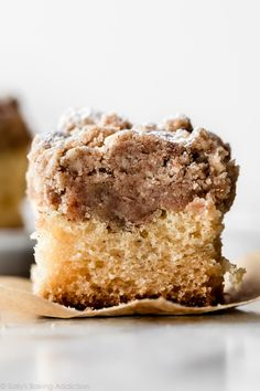 This is my moist and buttery New York-style crumb cake with EXTRA crumb topping. The crumb layer is just as thick as the cake layer! Cinnamon Crumb Cake, Crumb Coffee Cakes, Crumb Cakes, Coffe Cake, Coffee Art, Food Cakes, Cupcake Cakes, Baking Recipes, Dessert Recipes