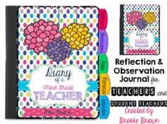 This Reflection and Observation Journal is ideal for any teacher or student teacher!  A wide variety of templates and organizational tools are provided to allow you to customize your journal as you see fit.  This product is highly in support of Robert Marzanos Domain 3: Reflecting on Teaching/Evaluating Personal Performance.