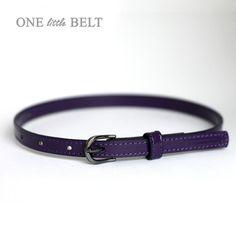 SALE Baby Girl's Belt Purple Patent 612 months by ONElittleBELT, $9.00