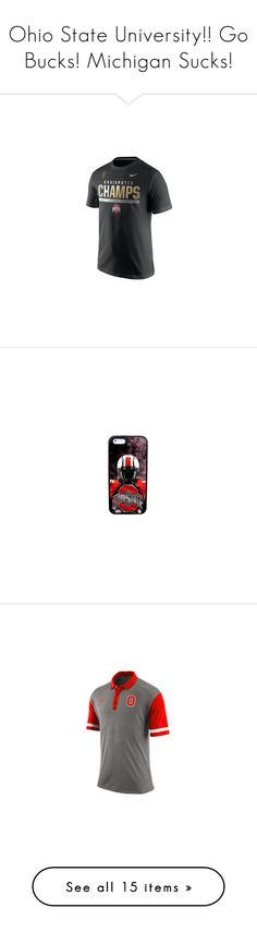"""Ohio State University!! Go Bucks! Michigan Sucks!"" by taylor-austinxoxo ❤ liked on Polyvore featuring men's fashion, buckeye, accessories, tech accessories, red, tops, hoodies, graphic hoodie, graphic tops and full zipper hoodie"