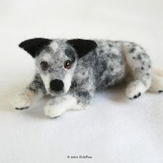 needle felting: dog