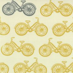 Ready to ShipLittle Things Yellow Gray Bikes by DesignsbyChristyS, $30.00