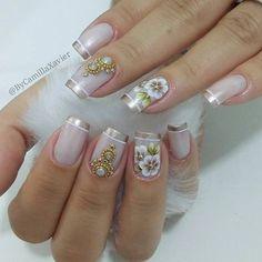 Wedding Manicure, Nail Designs, Hair Beauty, Nail Art, Tattoos, Nails, Makeup, How To Make, Baby Shower