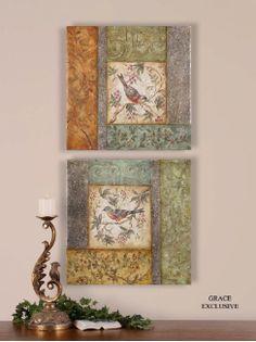 Bird Squares, Set of 2