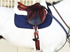 The most important role of equestrian clothing is for security Although horses can be trained they can be unforeseeable when provoked. Riders are susceptible while riding and handling horses, espec… Equestrian Outfits, Equestrian Style, Equestrian Fashion, English Horse Tack, English Saddle, Horse Fashion, Horse Gear, Saddle Pads, Horse Saddles