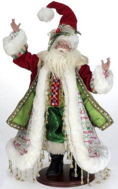 Mark Roberts Spirit of Christmas Santa Merry Christmas To All, Christmas Fairy, Father Christmas, Christmas Items, Christmas Crafts, Vintage Santa Claus, Vintage Santas, Mark Roberts Fairies, Santa And Reindeer