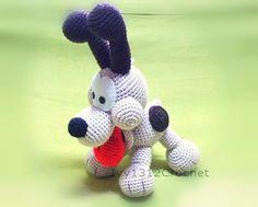 Olie the dog 9 - Amigurumi crochet doll