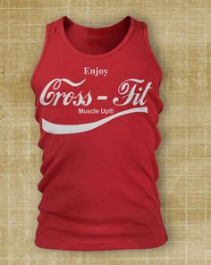 Crossfit Apparel - Muscle Up Coca Cola Men's Tank Top (White Print) Crossfit, Muscle Up, Clean, Je