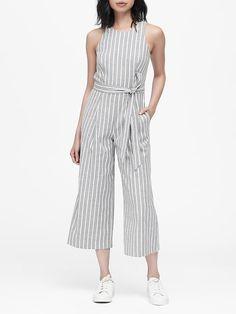 a2c9163167ee1 Linen-Cotton Cropped Jumpsuit   Banana Republic
