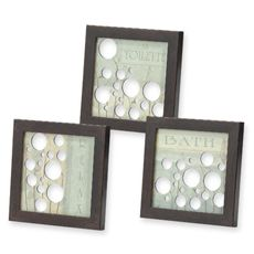 Mirrored Bath Bubbles Wall Art (Set of 3) Like this for the kids bathroom
