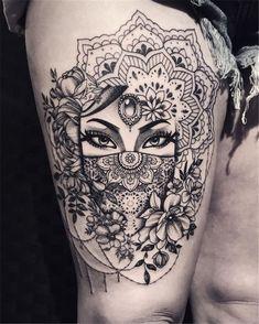 50 of the most beautiful mandala tattoo designs for body & soul - tattoos - . - 50 of the most beautiful mandala tattoo designs for body & soul - Unique Tattoo Designs, Unique Tattoos, Beautiful Tattoos, Beautiful Body, Awesome Tattoos, Amazing Tattoos For Women, Artistic Tattoos, Thigh Tattoo Designs, Modern Tattoos