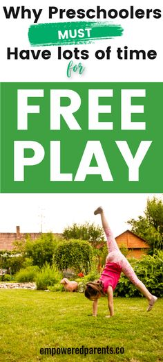Find out the importance of free play for your child's physical, emotional, social and cognitive development. How to encourage free play activities in your home | learning through play | free play ideas for preschool | free play activities for kids | what is free play? | importance of free play #play #learningthroughplay