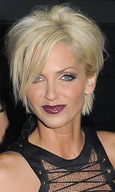Sarah Harding's Long Pixie Crop Hairstyle, November 2009