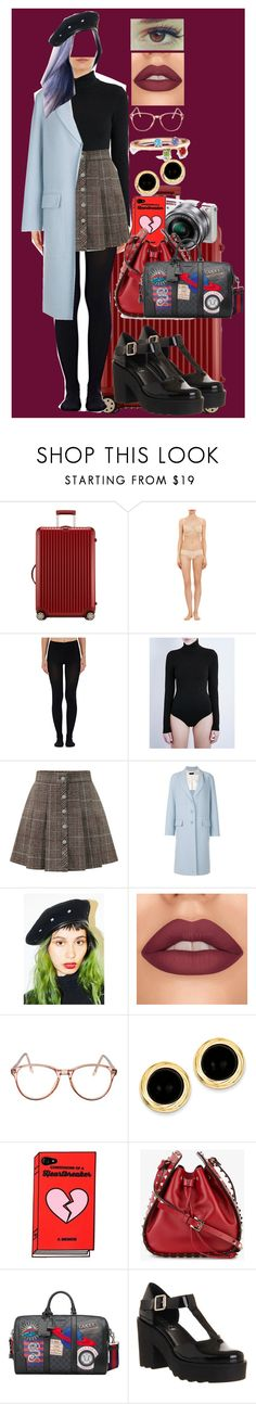 """""""Sin título #447"""" by coldprincess on Polyvore featuring moda, Rimowa, Cosabella, Wolford, WithChic, Joseph, American Apparel, Kevin Jewelers, Sony y Valentino"""