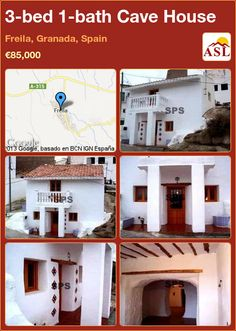 Cave House for Sale in Freila, Granada, Spain with 3 bedrooms, 1 bathroom - A Spanish Life Cave House, Granada Spain, Space Available, Parking Space, Mansions, Bathroom, House Styles, Bed, Home Decor