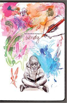 Girls make comics too.  #illustration #art #comics