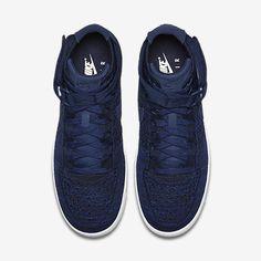 99d901ead81647 Chaussure Nike Air Force 1 Pas Cher Homme Ultra Flyknit Bleu Marine College  Noir Blanc Bleu