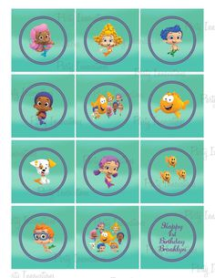 Printable Bubble Guppies Cupcake Toppers by PartyInnovations09, $5.00