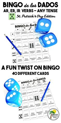 Get ready for a new twist on the 'roll a conjugation' activity! This is Bingo with dice! You can make this a whole-class activity or have students work in groups of three or four to play.