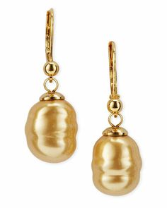 Baroque Pearl Drop Earrings by Majorica at Last Call by Neiman Marcus.