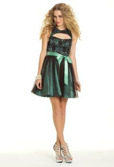 Short Party Prom Dress with Keyhole Front from Camille La Vie and Group USA