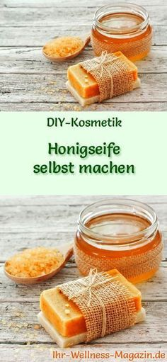 Seife herstellen – Seifen-Rezept: Honigseife selbst machen – süß duftend ist s… Making Soap – Soap Recipe: Making honey soap yourself – sweetly scented it is the epitome of luxury and well-being … Belleza Diy, Honey Soap, Coconut Soap, Diy Crafts To Do, Homemade Soap Recipes, Recipe Instructions, Home Made Soap, Soap Making, Diy Beauty