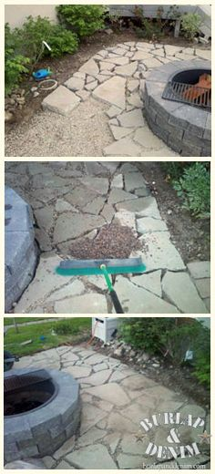 Sanding a Patio Pavers from Recycled Concrete