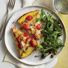Cooking Light July 2015, Page 26 | Tomato-Asiago Frittata  | MyRecipes.com
