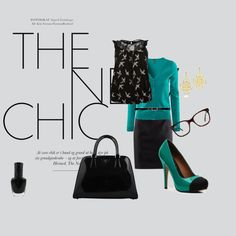 """""""chic in black and green"""" by lizmau on Polyvore"""