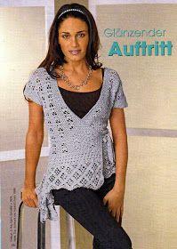 Photo from album on Yandex. Crochet Cardigan, Crochet Top, Crochet Clothes, Crochet Patterns, V Neck, Album, Knitting, Lady, Sweaters