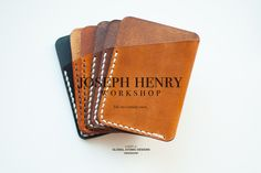 These are Card Slips. Handmade by me. Each holds 8 cards (debit, credit, Drivers Licence etc.) Great as an occasional or allthetime wallet! Joseph, Workshop, Card Holder, Wallet, How To Make, Cards, Handmade, Design, Atelier