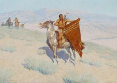 Blanket Signal, by Frederic Remington | Happy Sunday folks!!
