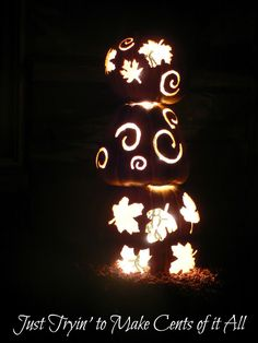 Just Tryin' to Make Cents of it All: LIGHTED FALL PORCH DECORATION
