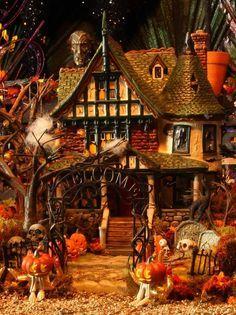 Dept 56 Halloween Village Displays