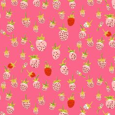Windham Fabrics - Briar Rose Collection by Heather Ross - Strawberry in Pink - By the Yard