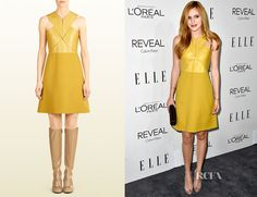 Bella Thorne's Gucci Silk & Leather Crossover Dress