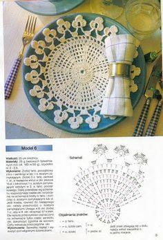 Lindas toalhinhas de crochê com gráfico