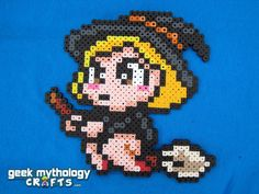 Halloween Spooky Cute Witch Perler Bead Sprite by GeekMythologyCrafts