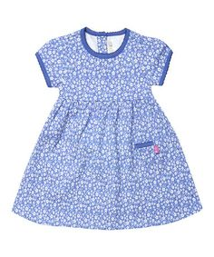 Look what I found on #zulily! Cornflower Ditsy Floral Dress - Infant, Toddler & Girls #zulilyfinds