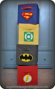 Diy Superhero bins!